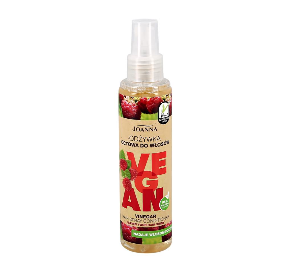 Спрей-кондиционер для волос Joanna Vegan для блеска с малиновым уксусом