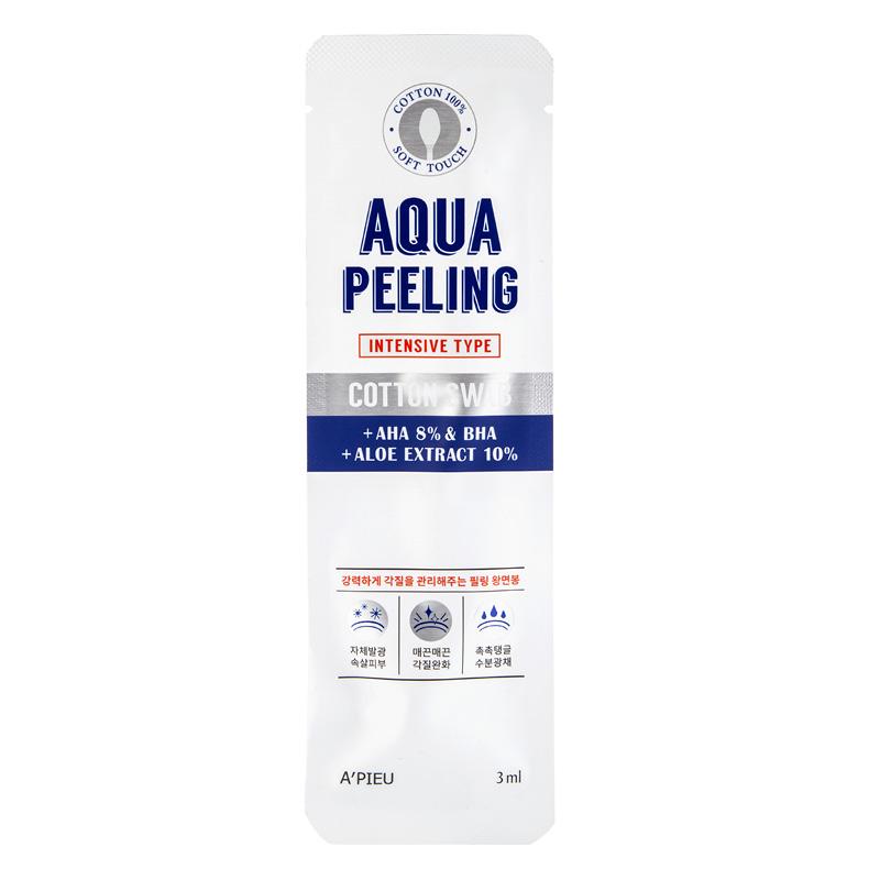Ватная палочка для пилинга A`Pieu Aqua Peeling c 8% AHA и BHA-кислотами и экстрактом алоэ вера (интенсивного действия)