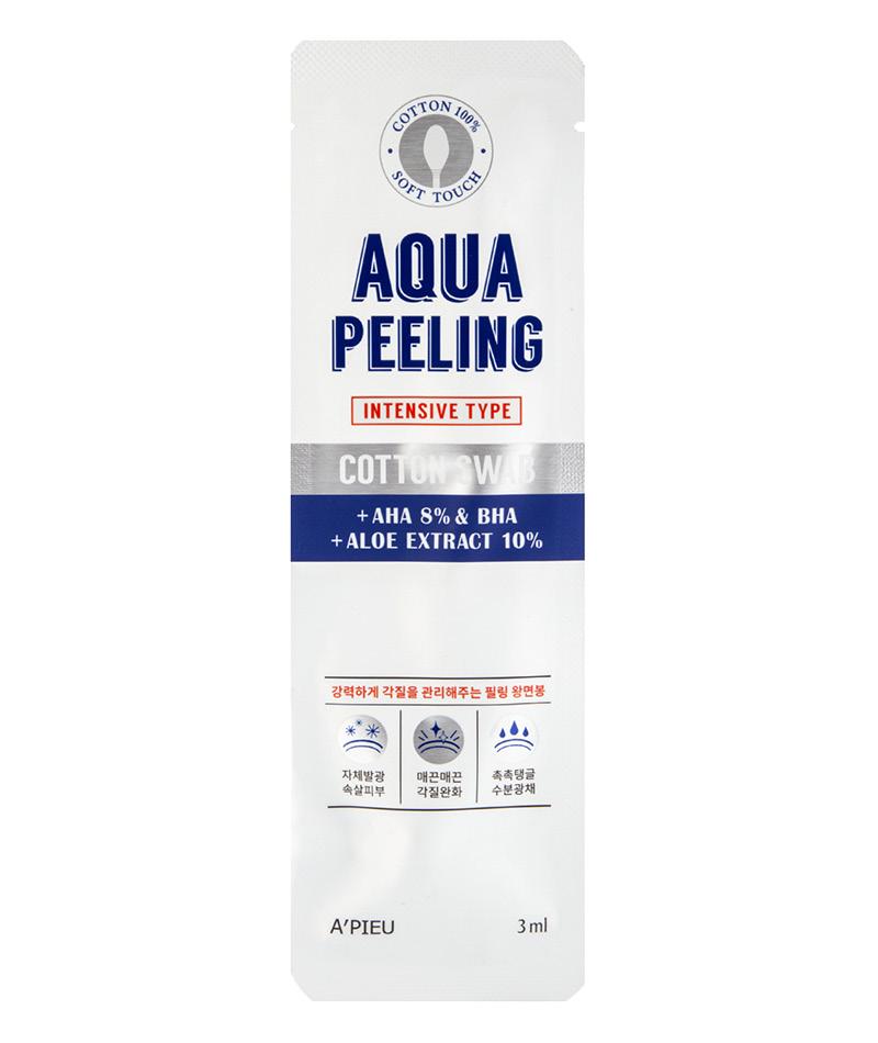 Ватная палочка для пилинга Aqua Peeling с 8% АНА- и ВНА-кислотами