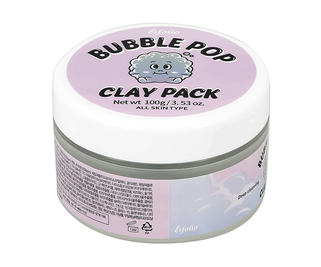 Маска для лица Esfolio Bubble Pop кислородная глиняная (для очищения и сужения пор)