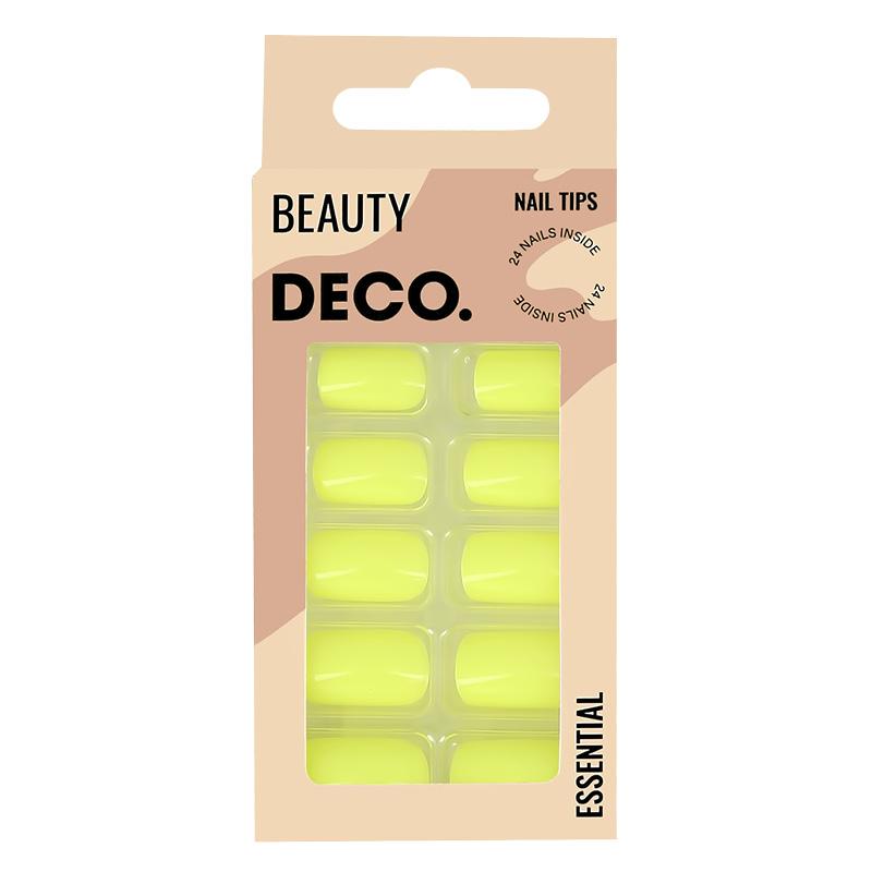 Набор накладных ногтей DECO. Essential Neon (24 шт + клеевые стикеры 24 шт)