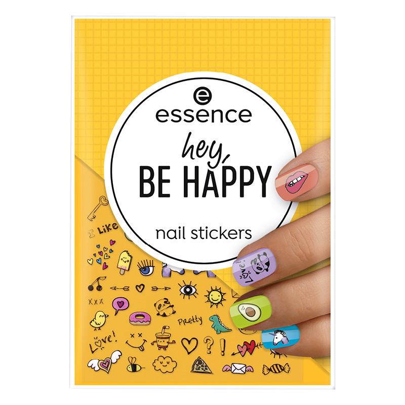 Наклейки для ногтей Essence Hey, Be Happy символы и рисунки