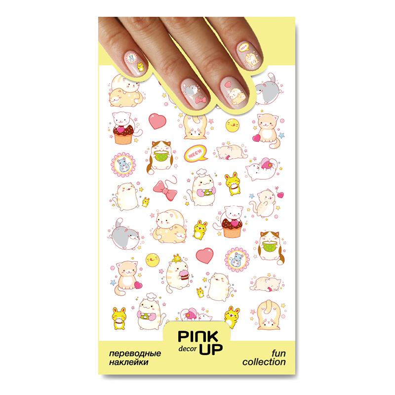 Наклейки для ногтей Pink Up Decor Fun переводные тон 868