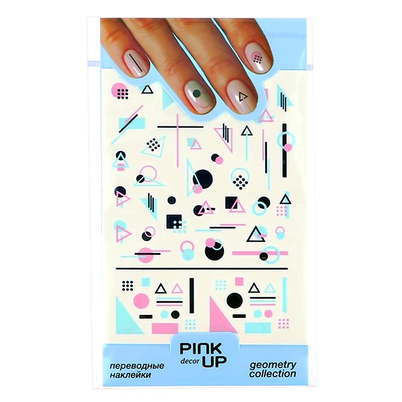 Наклейки для ногтей Pink Up Decor Geometry переводные тон 625