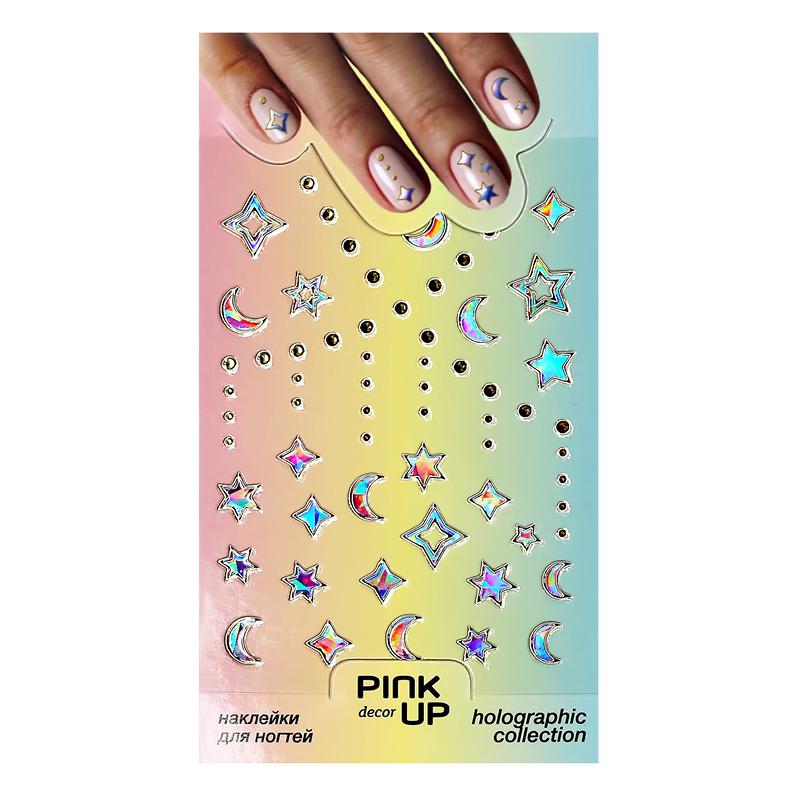 Наклейки для ногтей Pink Up Decor Holography переводные тон 816