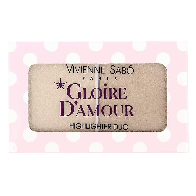Палетка хайлайтеров Gloire D`Amour, тон 01, Vivienne Sabó