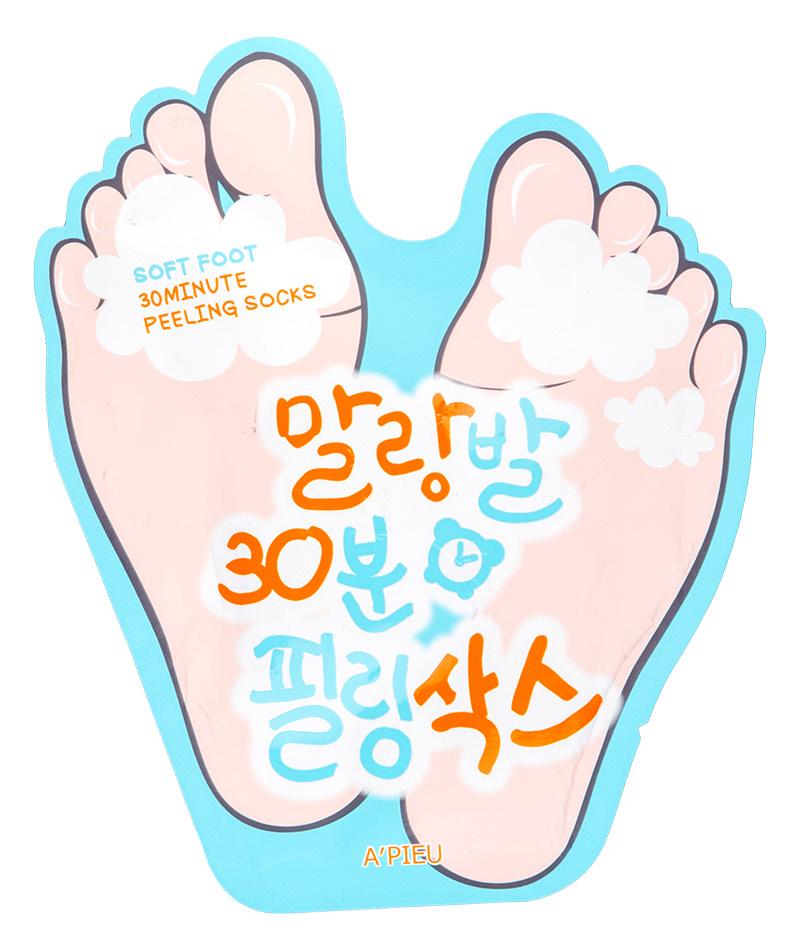 Пилинг для ног отшелушивающий с AHA- и BHA-кислотами Soft Foot, A'Pieu
