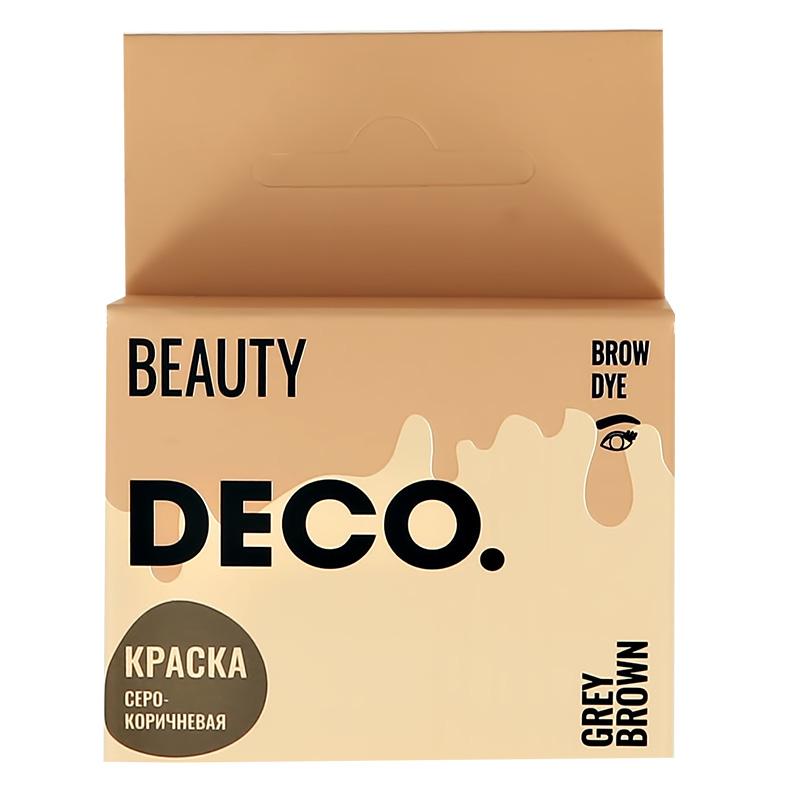 Краска для бровей DECO. в саше с окислителем (тон серо-коричневый)