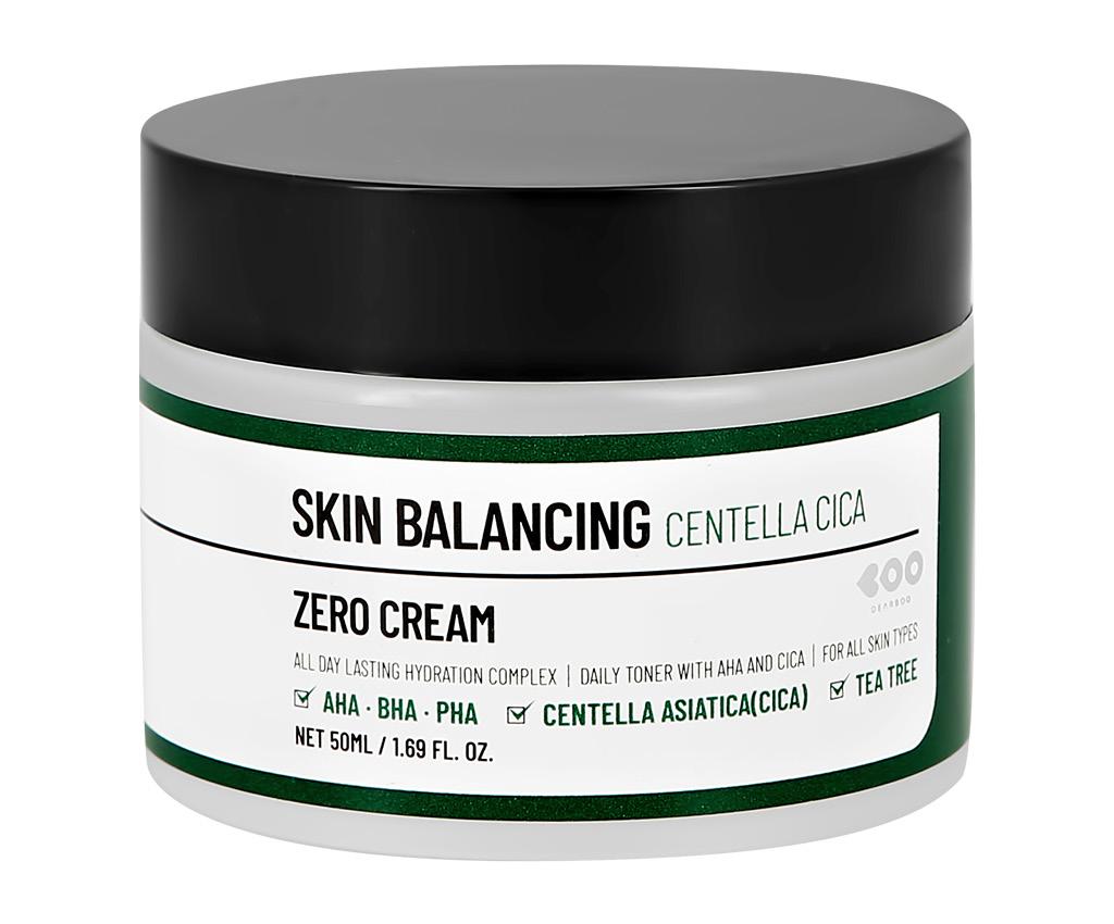 Крем для лица Dearboo Skin Balancing с AHA, BHA и PHA-кислотами, экстрактом центеллы азиатской и маслом чайного дерева