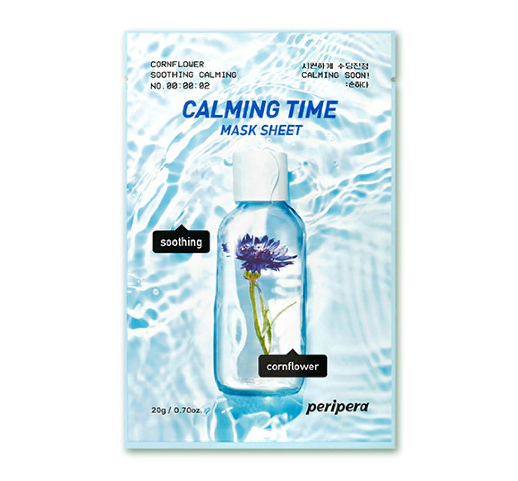 Маска для лица Peripera Calming Time с экстрактом василька (успокаивающая)