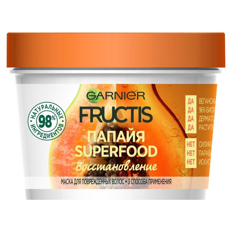 Маска для волос Garnier Fructis Superfood Папайя