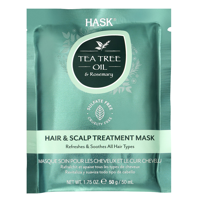 Маска для волос Hask Tea Tree Oil с экстрактом розмарина (укрепляющая)
