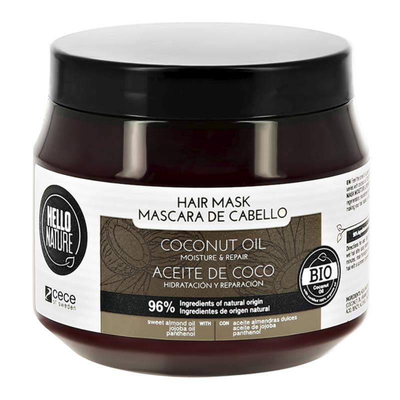 Маска для волос Hello Nature Coconut Oil с кокосовым маслом (увлажнение и восстановление)