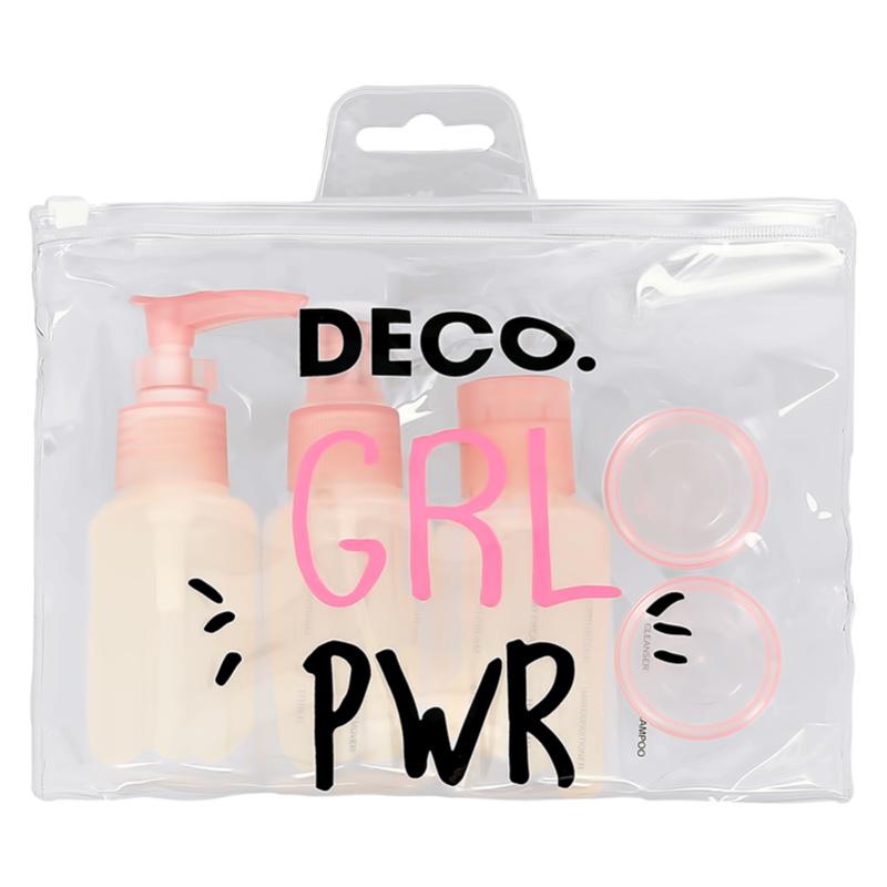 Набор дорожных флаконов DECO. в косметичке 6 предметов (Girl Power)