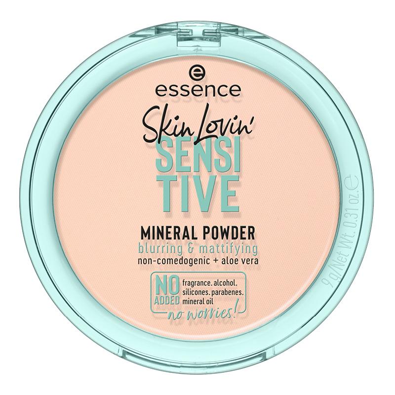 Пудра компактная для лица Essence Skin Lovin` Sensitive минеральная для чувствительной кожи