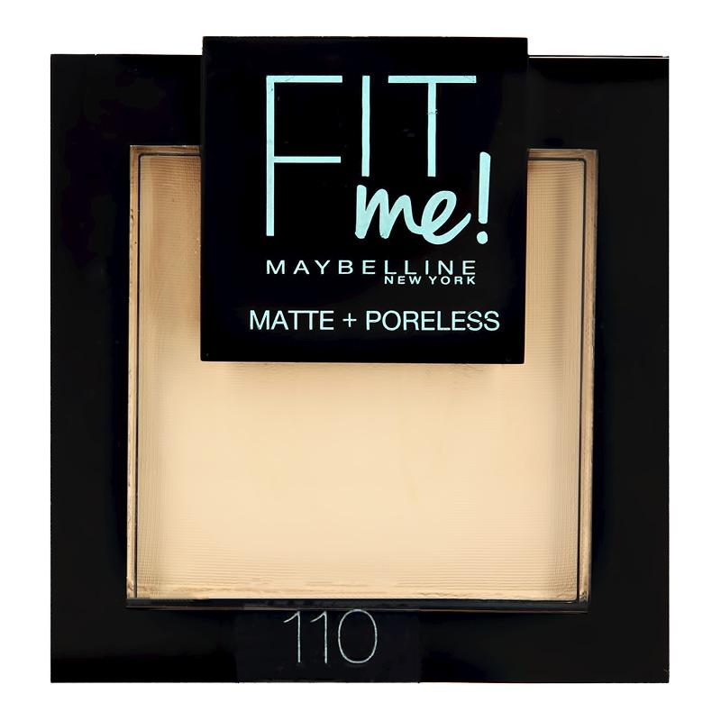 Пудра компактная для лица Maybelline Fit Me тон 110 светло-кремовый