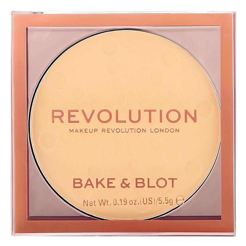 Пудра компактная для лица Revolution Bake & Blot тон Banana