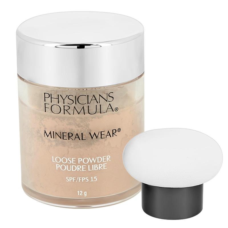 Пудра рассыпчатая для лица Physicians Formula Mineral Wear минеральная SPF 15 тон кремовый натуральный