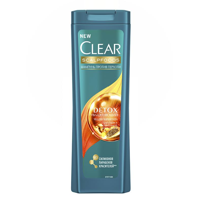 Шампунь для волос Clear Scalpfoods Detox Увлажняющий (против перхоти)