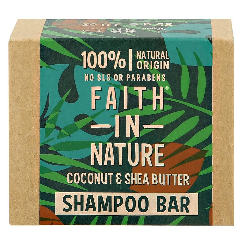 Шампунь для волос Faith In Nature с маслами кокоса и ши (твердый)