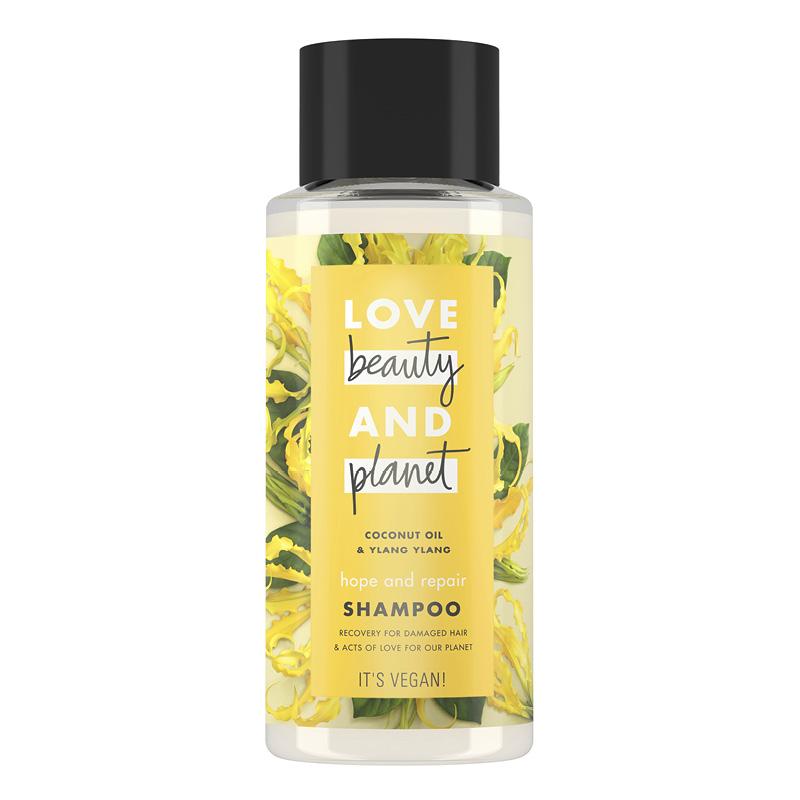 Шампунь для волос Love Beauty And Planet Coconut Oil & Ylang Ylang Восстановление и забота (с кокосовым маслом и цветами иланг-иланг)