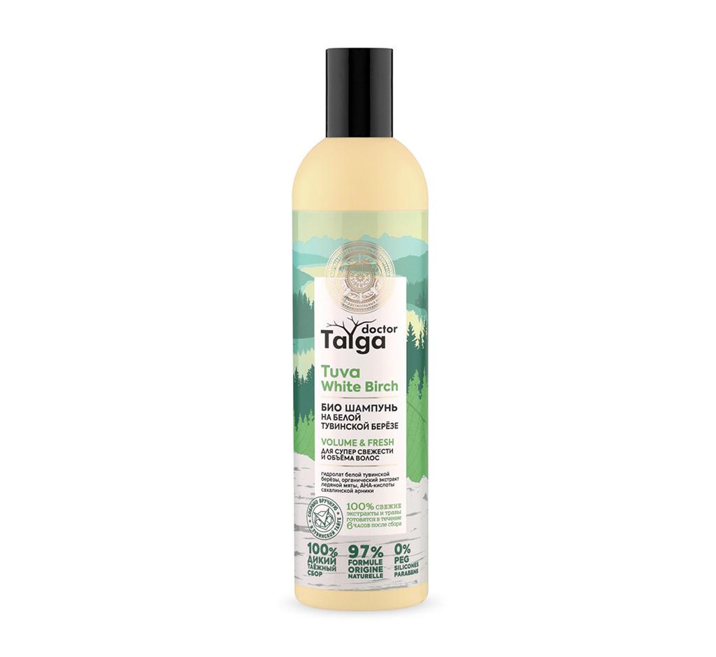 Шампунь для волос Natura Siberica Doctor Taiga на белой тувинской березе (для супер свежести и объема волос)