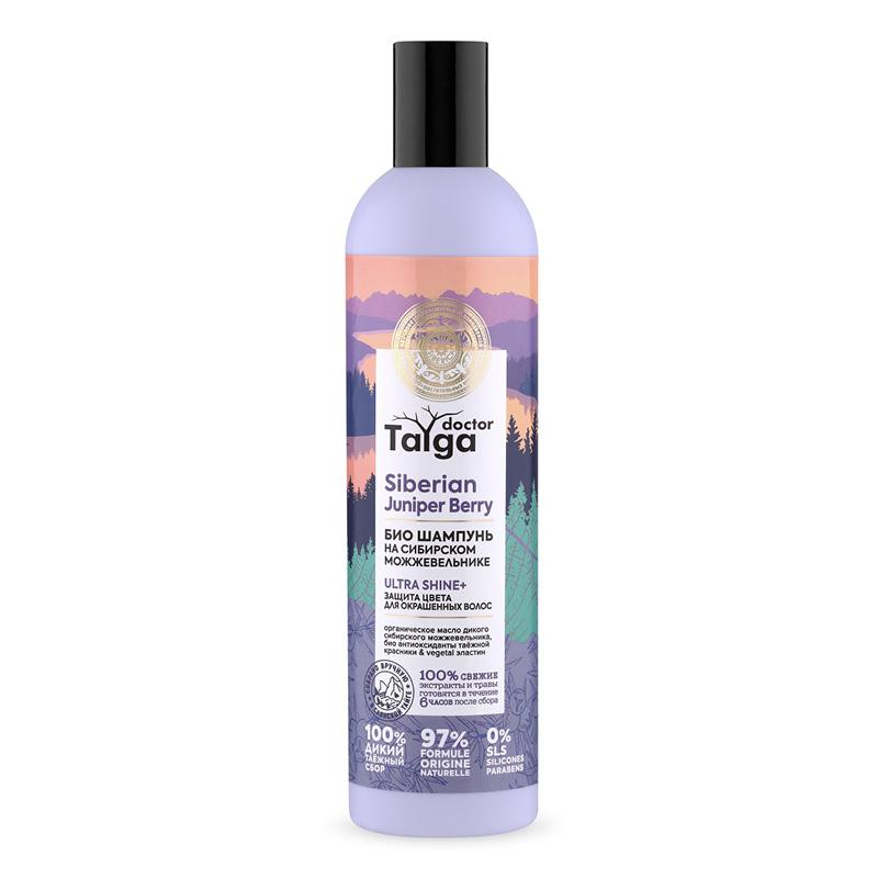 Шампунь для волос Natura Siberica Doctor Taiga на сибирском можжевельнике (защита цвета для окрашенных волос)