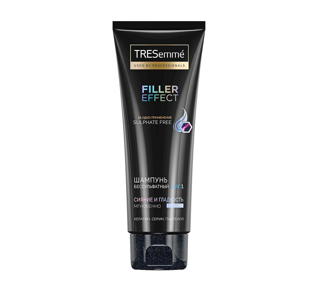 Шампунь для волос Tresemme Filler Effect Cияние и гладкость (бессульфатный)