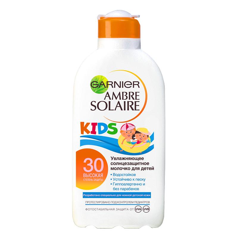 Солнцезащитное молочко для тела детское Ambre Solaire SPF 30, Garnier