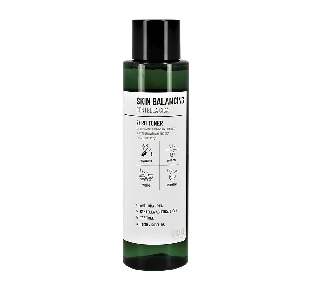 Тонер для лица Dearboo Skin Balancing с AHA, BHA и PHA-кислотами, экстрактом центеллы азиатской и маслом чайного дерева