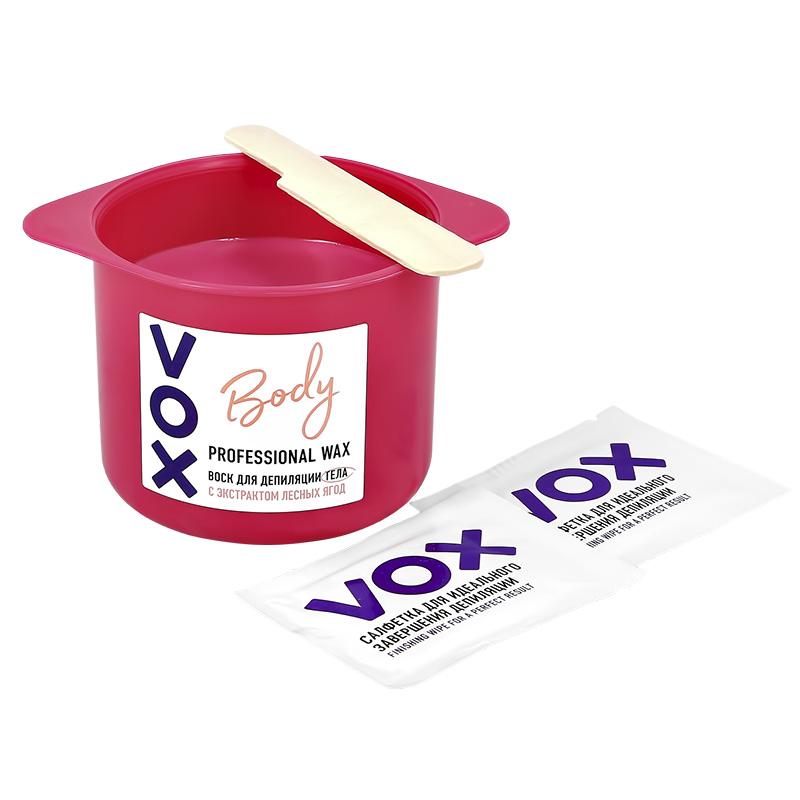 Воск для депиляции VOX для нагрева в микроволновой печи с экстрактом лесных ягод