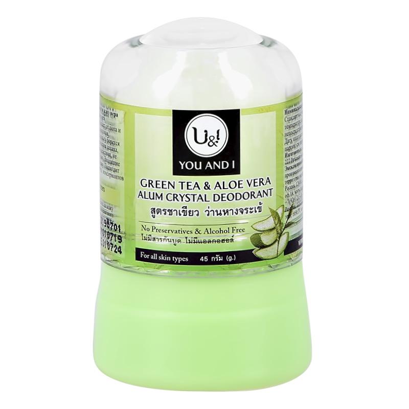 Део-кристалл жен. U & I Зеленый чай и алоэ вера