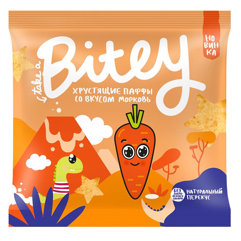 Экструдированные мультизлаковые фигурки паффы Take A Bitey со вкусом морковь