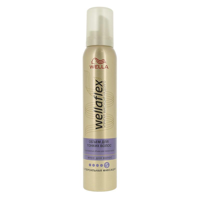 Мусс для волос Wella Wellaflex Объем Для тонких волос суперсильной фиксации