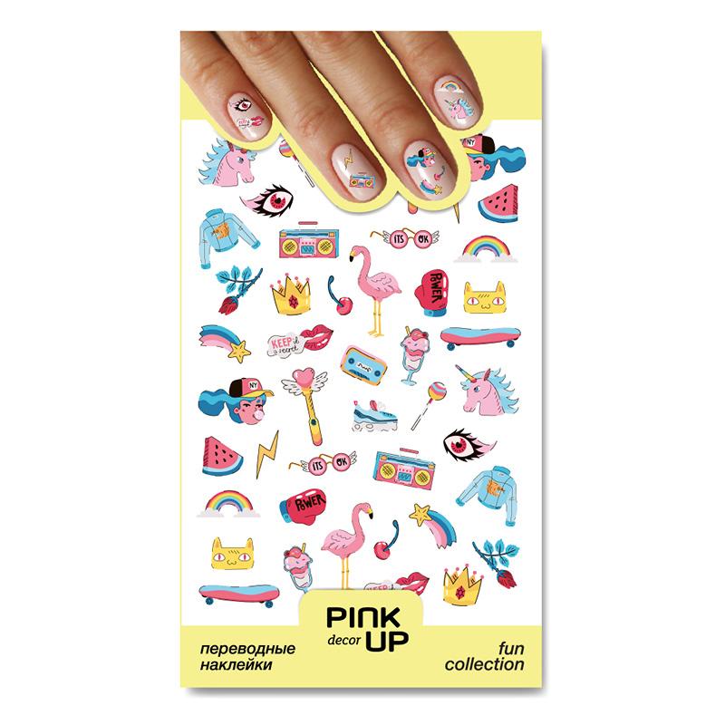 Наклейки для ногтей Pink Up Decor Fun переводные тон 863