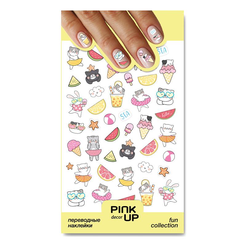 Наклейки для ногтей Pink Up Decor Fun переводные тон 869
