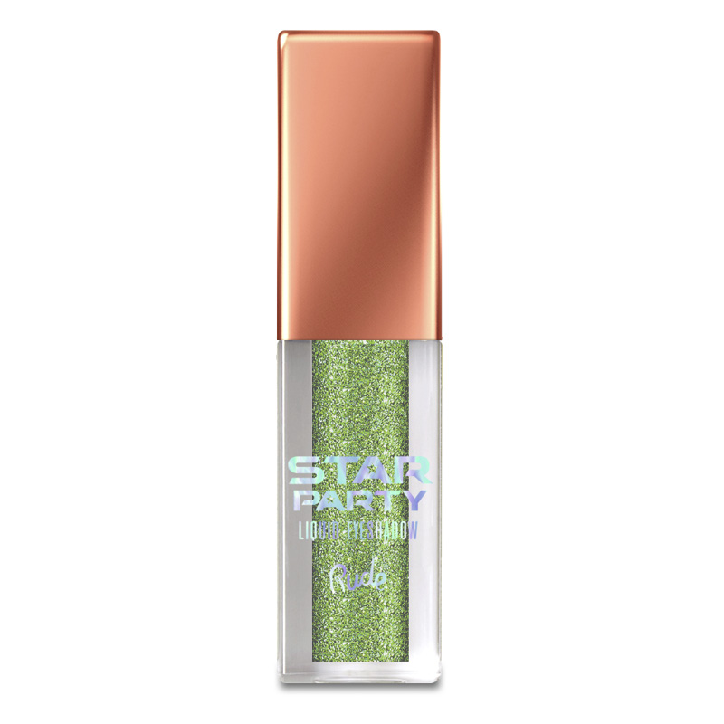 Тени для век Rude Star Party Liquid Glitter Eyeshadow жидкие тон Nebula Gleam