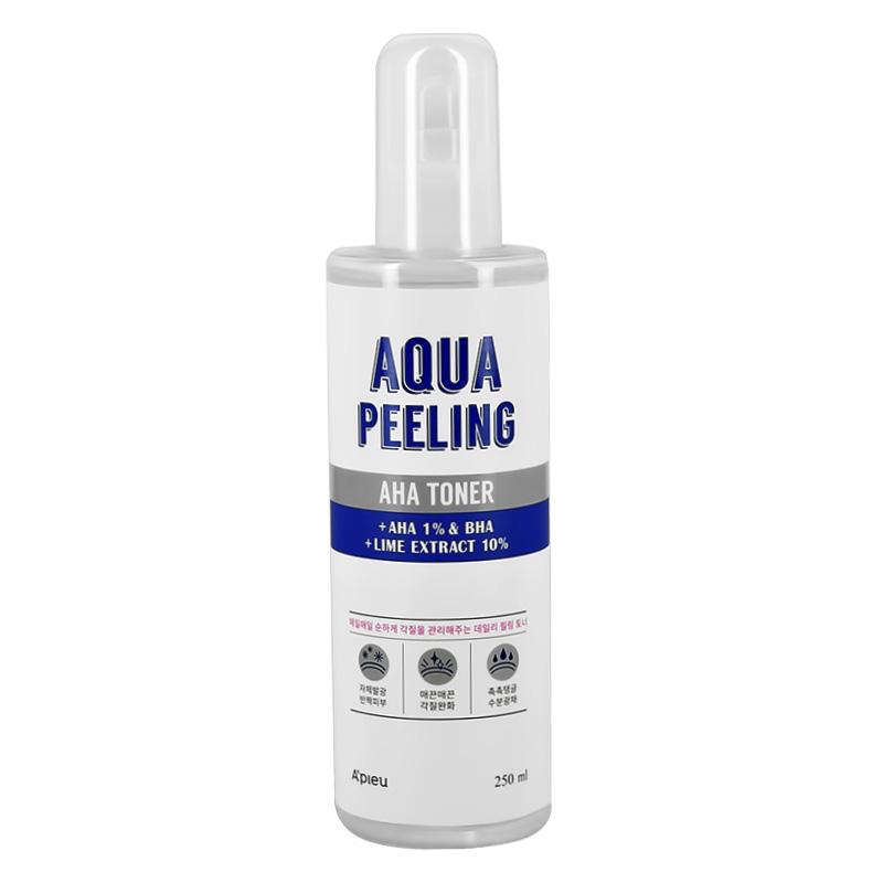 Тонер для лица A`Pieu Aqua Peeling с AHA и BHA-кислотами и экстрактом лайма