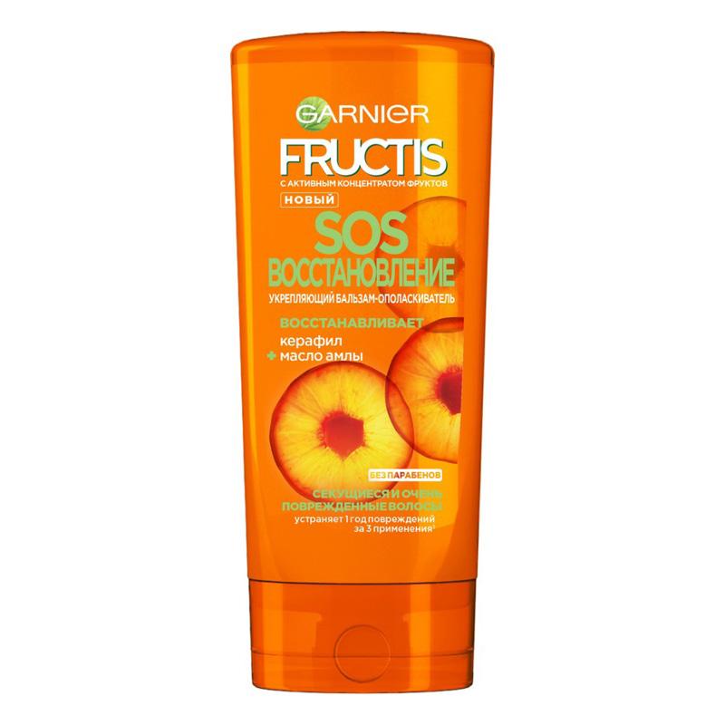 Бальзам-ополаскиватель для волос Garnier Fructis SOS Восстановление укрепляющий (для секущихся и очень поврежденных волос)