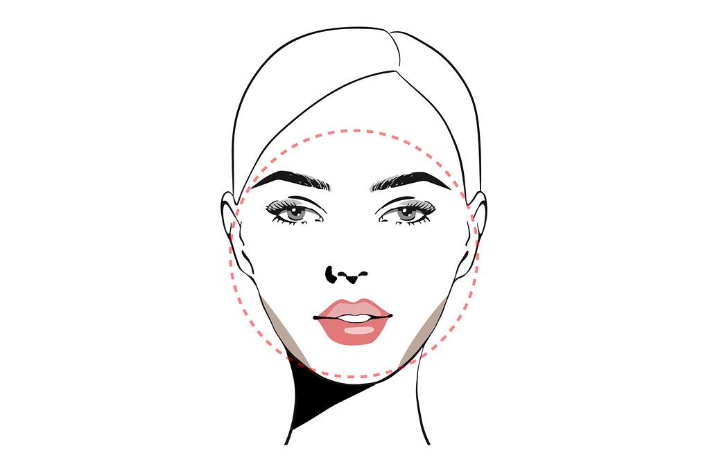 Челки под тип лица: Круглое лицо