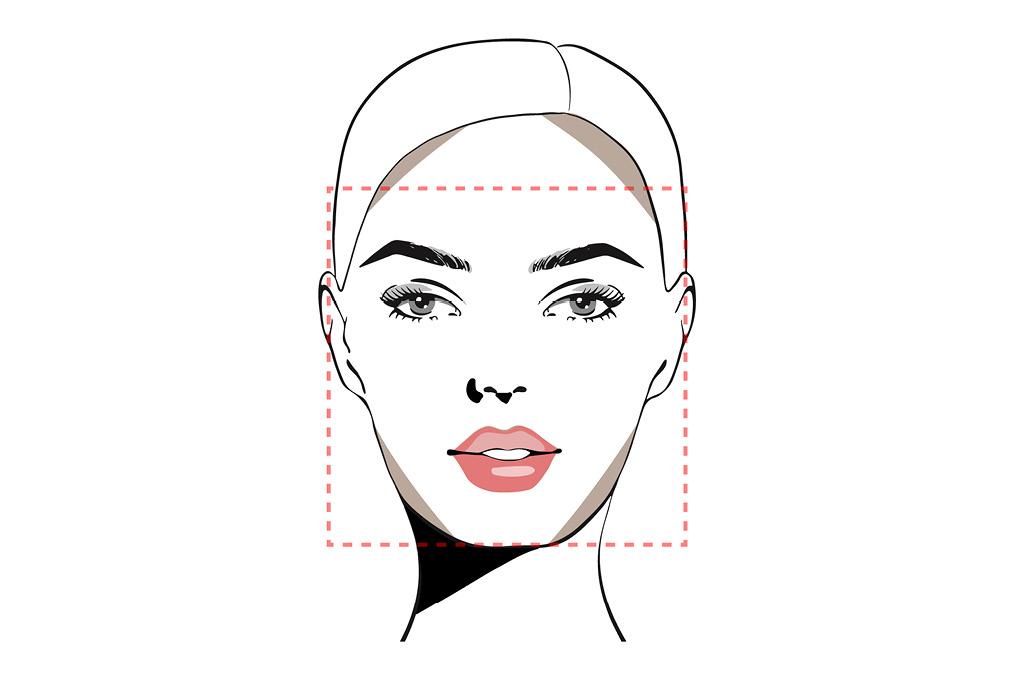 Челки под тип лица: Квадратное лицо
