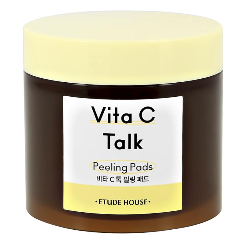 Диски для лица Etude House Vita C Talk отшелушивающие с витамином С