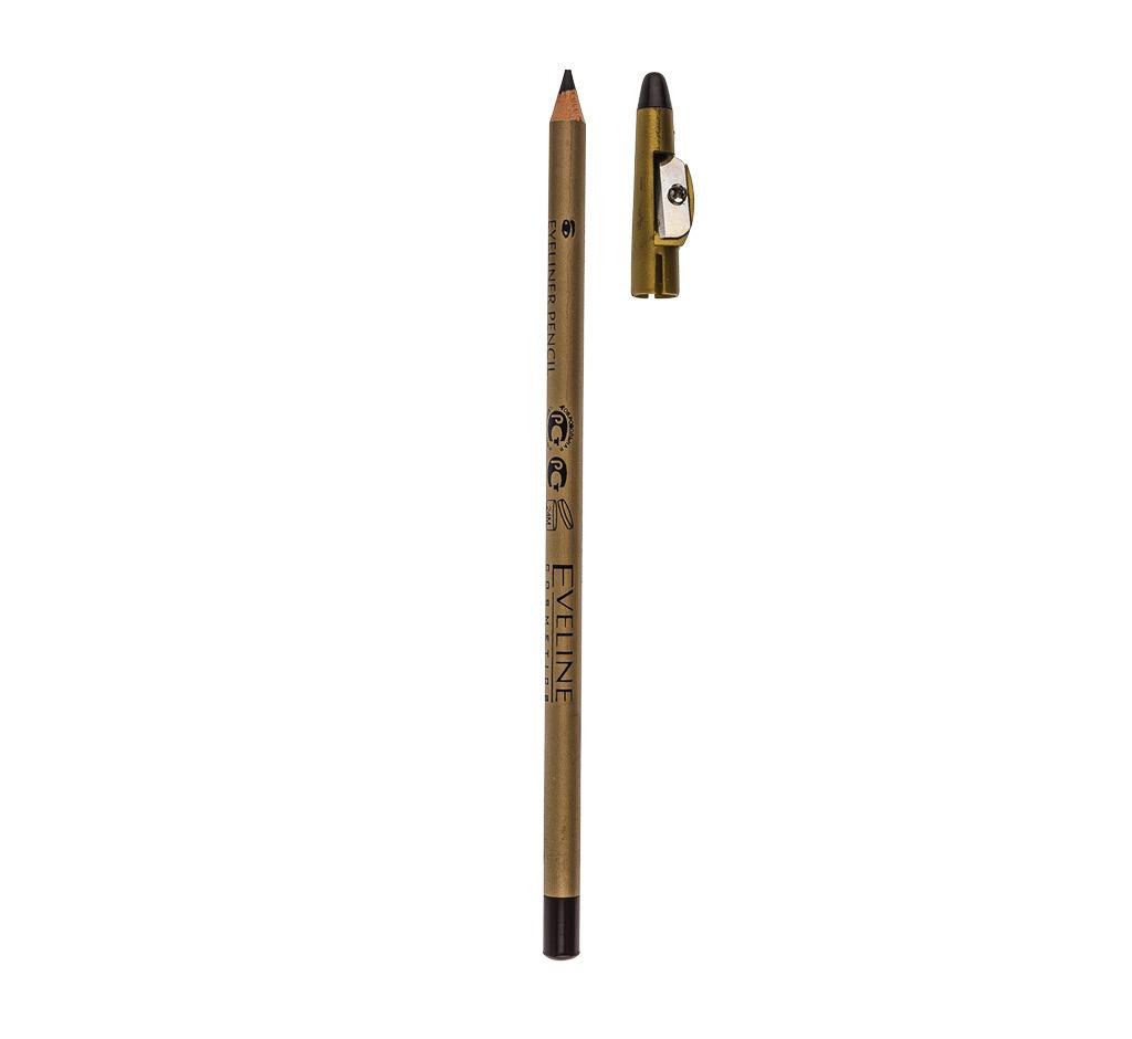 Карандаш для глаз Eveline Eyeliner Pencil с точилкой водостойкий тон коричневый