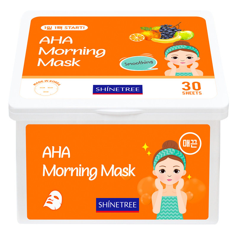 Маска для лица Shinetree с AHA кислотами утренняя разглаживающая
