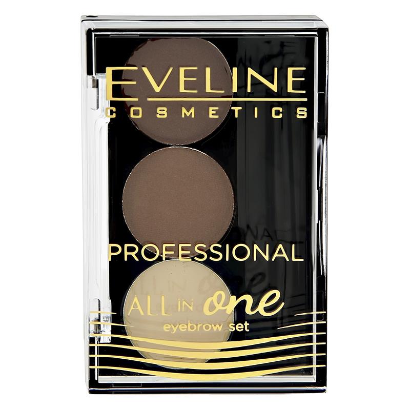 Набор для бровей Eveline All In One тон 02