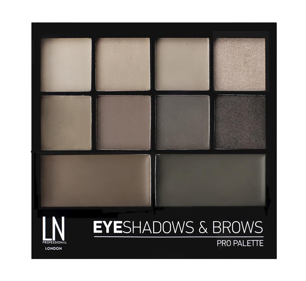 Набор для макияжа Ln Professional Pro Palette тени для век и воск для бровей (тон 02)