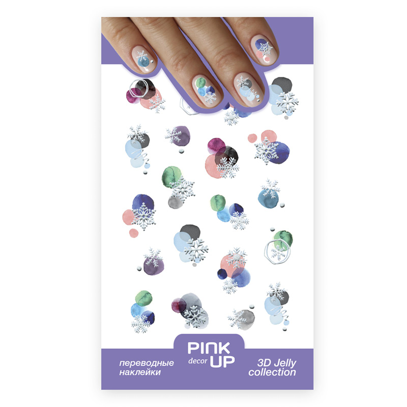 Наклейки для ногтей Pink Up Decor 3d Jelly переводные тон 822