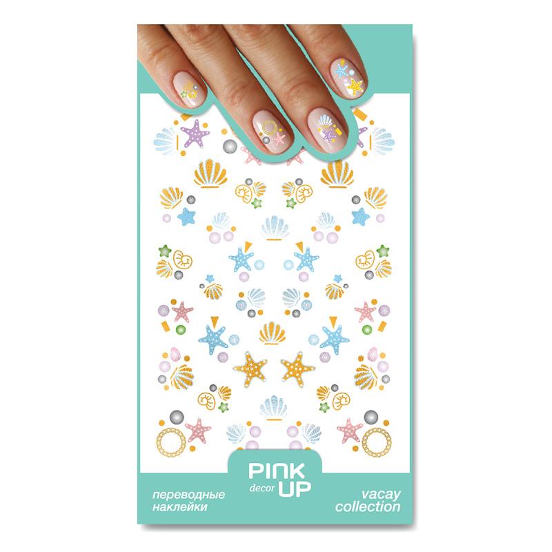 Наклейки для ногтей Pink Up Decor Vacay переводные тон 03