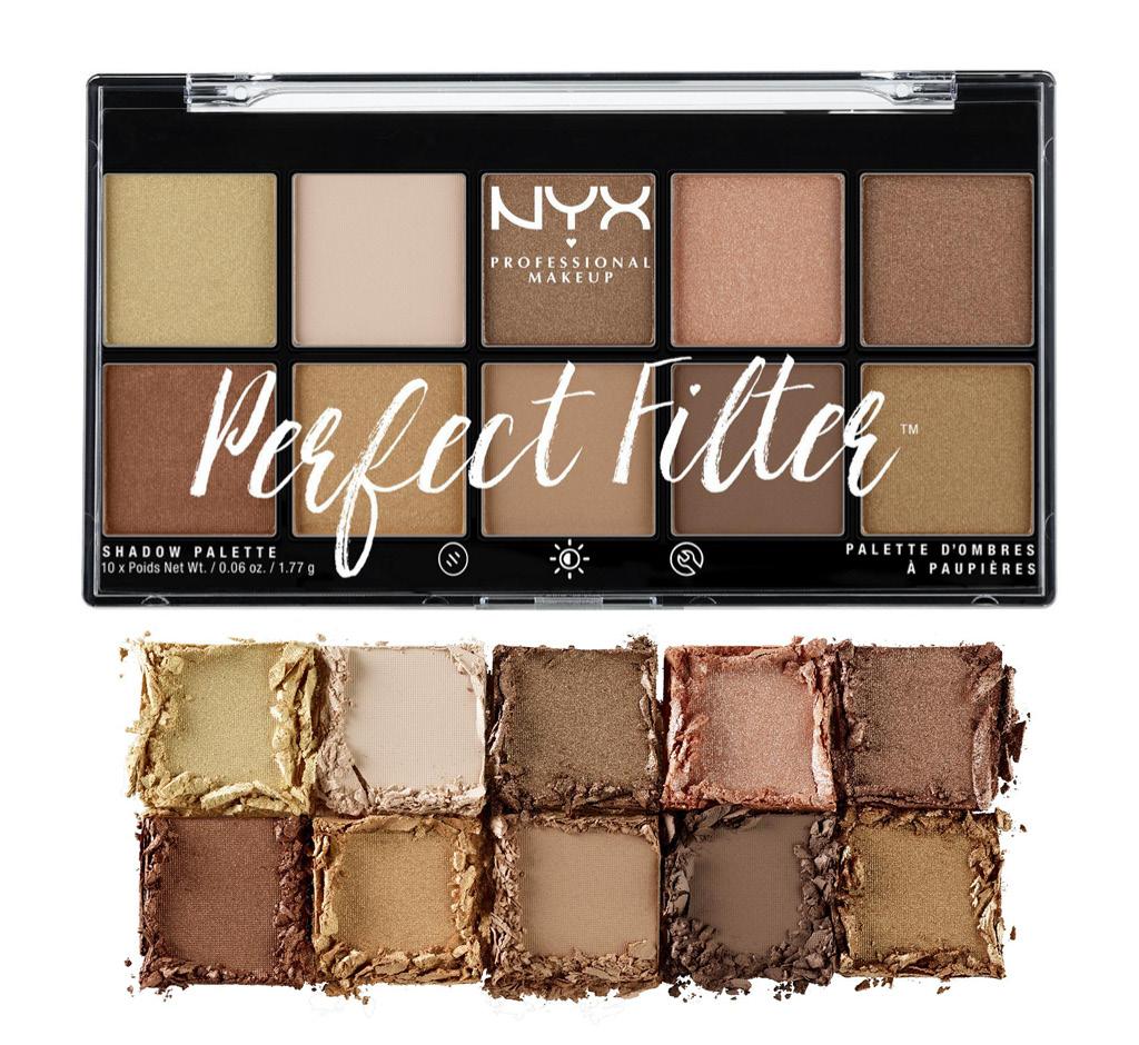 Палетка теней для век NYX Professional Makeup Perfect Filter тон 01 Golden Hour