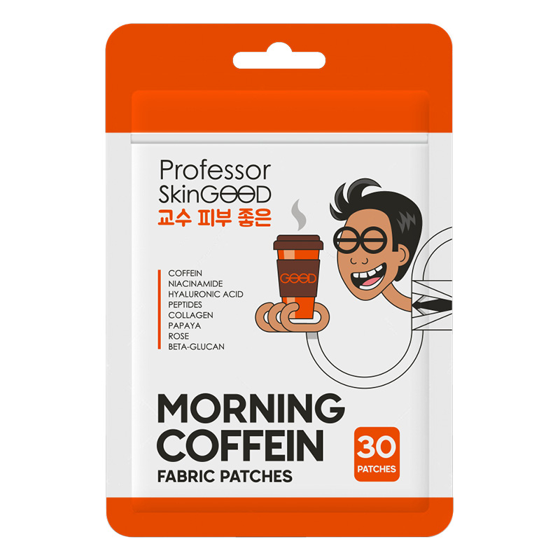 Патчи для глаз Professor Skingood тканевые с кофеином